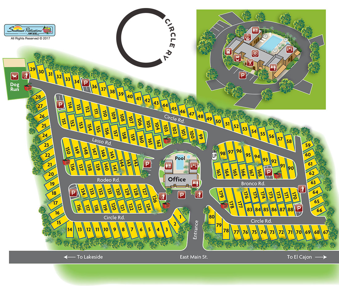 Circle RV Resort Map
